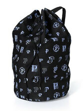 Victoria's Secret PINK Monogram Laundry Bag ~ Black  NWT