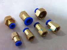 """5pcs 8mm to 1/4"""" Pneumatic Connectors Female straight one-touch fittings BSPT"""