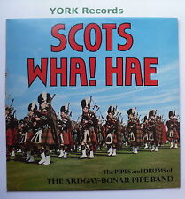 ARDGAY-BONER PIPE BAND - Scots Wha! Hae - Ex Con LP Record Gold Award MER 386