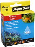 Aqua One A1-92053 Quick Drop Ammonia NH3 Test Kit Fish Tanks Marine Aquariums