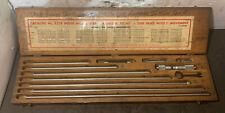 Starrett No 823e 4 40 Inside Micrometer Set Complete Machinist Lathe Used