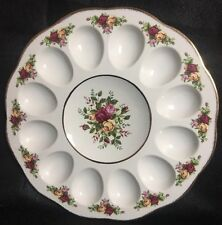"Royal Albert Old Country Roses 11"" Deviled Egg Dish NIB By Royal Doulton Plate"