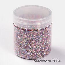 1Box Mixed Color Mini Glass Beads Tiny Caviar Nail Beads 3D Nail Art Decoration