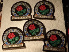 @ VINTAGE SEW ON PATCH - BLACKBURN x 5 PATCHES - NEW OLD STOCK