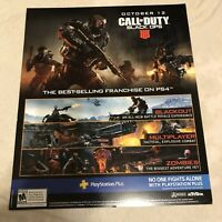 """Call Of Duty Black Ops 4 Multiplayer Zombies Gamestop Promo Poster 17x14"""""""