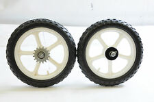 "PAIR 12"" (300mm) WHITE MAG MOULDED TYRE WHEELS FOR CHILDS BIKE DIY BUILD PROJECT"