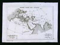 c. 1835 Levasseur Ancient World Greece Roman Europe Asia Minor Libya Africa Asia