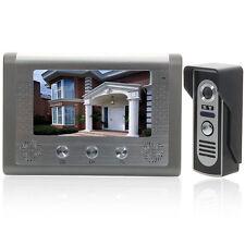 "7"" Wired Video Door Phone Doorbell Intercom Home Security Night Vision Camera US"