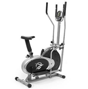 Plasma Fit Elliptical Machine Cross Trainer 2 in 1 Exercise Bike Cardio Fitness