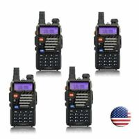 4x Baofeng * UV-5R+ Plus * VHF UHF Dual Band 5W 128CH FM Ham Two-way Radio US