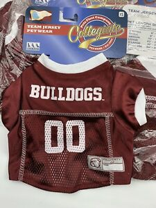 NEW Mississippi State Bulldogs Pet Dog Jersey XS Puppy, Toy Poodle,Yorkie Shirt