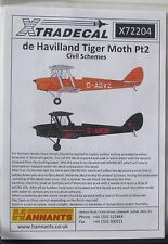 XTRADECAL 1/72 x72204 DE HAVILLAND TIGER MOTH PT 2 Decalcomania Set-SISTEMI DI CIVIL