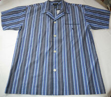 Men's Polo Sleep shirt PJ night shirt logo XL xlarge blues white stripes P506SR