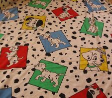 101 Dalmations Twin Size Bed Sheet Flat Fabric Cartoon Vintage Walt Disney Dogs