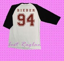 justin bieber 94 shirt tshirt tee clothing tour concert baseball raglan S,M,L
