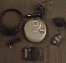 Aiwa Discman Xp-V730C Portable Cd Player w/ Headphones Cassette Adapter + More