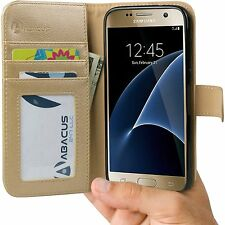 Gold Wallet Flip Cover Case for Samsung Galaxy S7 Phone