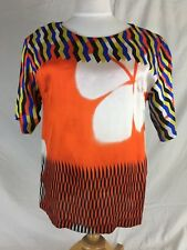 Dries Van Noten Multi Color Blouse 3/4 sleeve NEW $585