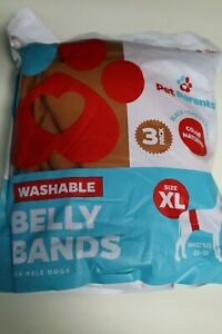 Pet Parents Premium Washable Dog Belly Bands (3pack)  Male Dog Diapers (XL)