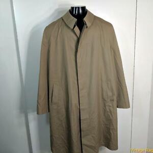 MISTY HARBOR Vtg Long RAINCOAT Rain Coat Mens Size 46L 46 XLT khaki