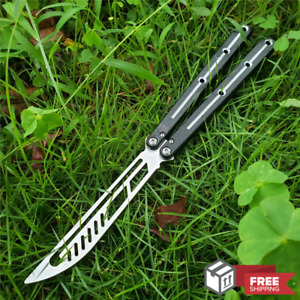Butterfly Trainer Knife Bushing System Practice SQUID Aluminum Handle Not Sharp
