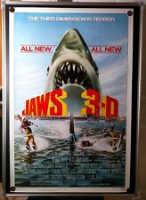 JAWS 3 3D Dennis Quaid Original NM 27x41 Single Sided Rolled Movie Poster 1983