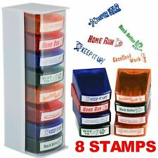 8 Self Inking Reward School Stamps Student Marking Home Teacher Teaching Aid