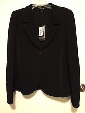 NWT Giorgio Armani Black Single Breasted Jacket $2995 – Italy 48 US 12