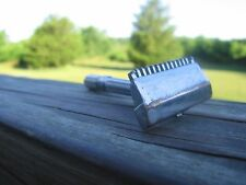Nice Gem Micromatic Open Comb Type Silver Tone SE Safety Razor