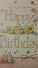 Large Celebration Card, 'Happy Birthday To A Wonderful Grandaughter'
