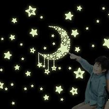 Star Spaceship Cartoon Wall Stickers Glow In The Dark Decals Wall Sticker
