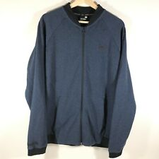 Under Armour UA Unstoppable Double Knit Bomber Jacket Full Zip Blue Mens XL