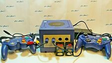 NINTENDO GAMECUBE 2 Controllers 2 Storage Cards Working Complete & Clean  [2177]