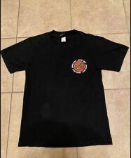 Vintage Santa Cruz Skateboards Tee Shirt Size Small Black Short Sleeve