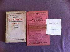 POE Edgar - Le Sphinx et autres contes bizarres. - 1934 - Ex. en S.P. -