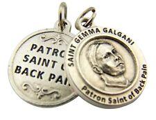 Silver Tone Patron of Back Pain Saint Gemma Galgani Medal Pendant, 3/4 Inch