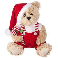 """15"""" GANZ Plush Santa Furry Teddy Bear Nicholas Christmas Doll Holiday Decor Gift"""