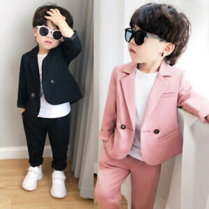 Boys Suits 2 Piece Slim Fit Suit for Kids Formal Set Wedding Ring Bearer Outfit