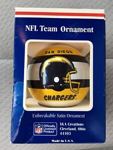 San Diego Chargers NFL Unbreakable Satin Christmas Ornament New I & A Creations