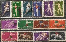 Spain, 1960, Sc# 953-962, C167-C170, Various Sports, full set, MNH