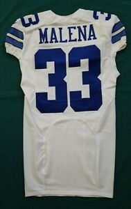 #33 Ben Malena of Dallas Cowboys NFL Locker Room Player Issued Jersey