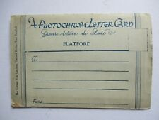 Photochrom Letter Card - Flatford Suffolk -  Postcard - Gravure Edition de Luxe