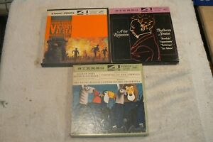 """RCA Victor Classical R2R 7"""" Stereo Tapes ,Lot Of 3, Used ,Untested, War At Sea,"""