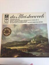 Johannes Brahms LP Das Meisterwerk Für Klavier Und Orchester