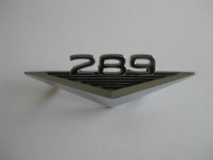 CHROME 289 FORD GUARD BADGE NEW 65 66 MUSTANG FALCON FAIRLANE XM XP XL