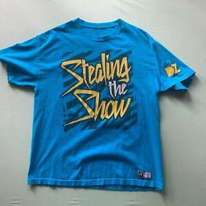 WWE Men's Dolph Ziggler Stealing the Show & Girlfriend T-Shirt Blue XL