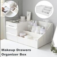Desktop Box Storage Makeup Drawers Organizer Box Jewelry Container Case White