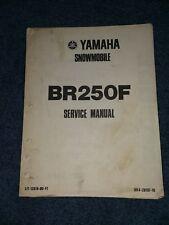 Yamaha Br250F Snowmobile Service Manual
