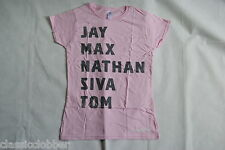 THE WANTED BAND NAMES LADIES SKINNY T SHIRT MEDIUM NEW OFFICIAL BATTLEGROUND