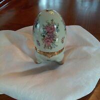 Egg trinket box by Formalities Baum Bros. Porcelain